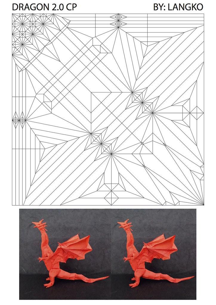 Origami divine dragon