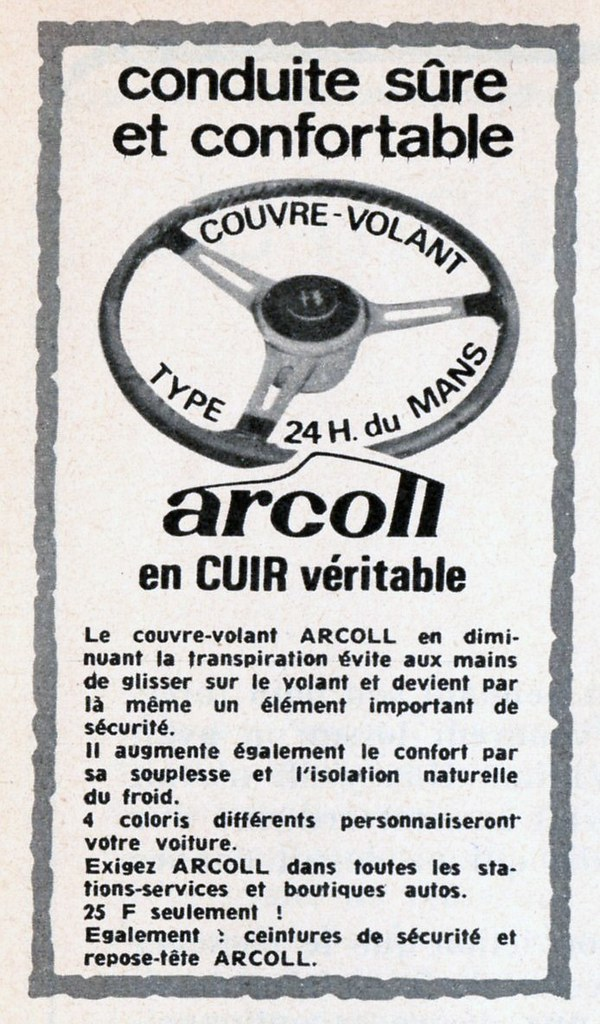 pub couvre volant arcoll publi e en octobre 1970 flickr. Black Bedroom Furniture Sets. Home Design Ideas
