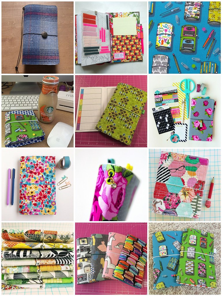 DIY Fabric Traveler's Notebooks (fabdoris) #inspiration collected by iHanna #midori #travelersnotebook