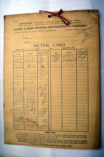 Meter card
