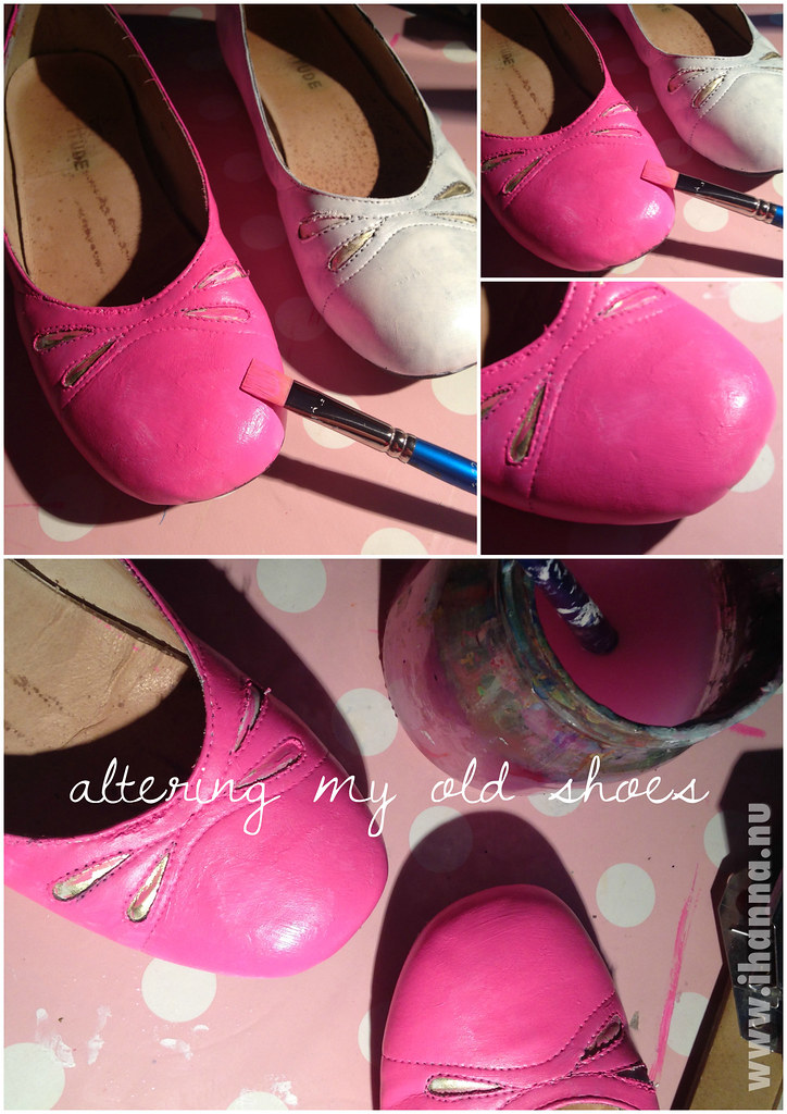 Painting a pair of old shoes - by @ihanna #diyfashion