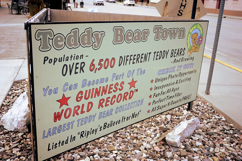 Sign at Teddy Bear Town