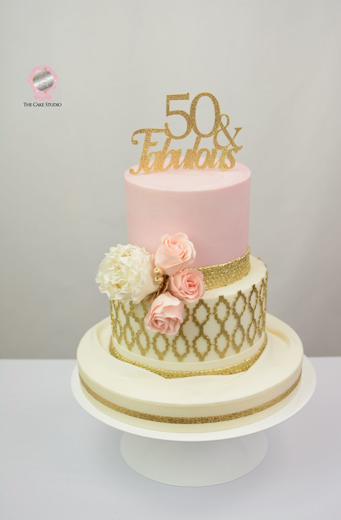 Pink And Gold 50th Birthday Cake Lori Ann Foley Flickr