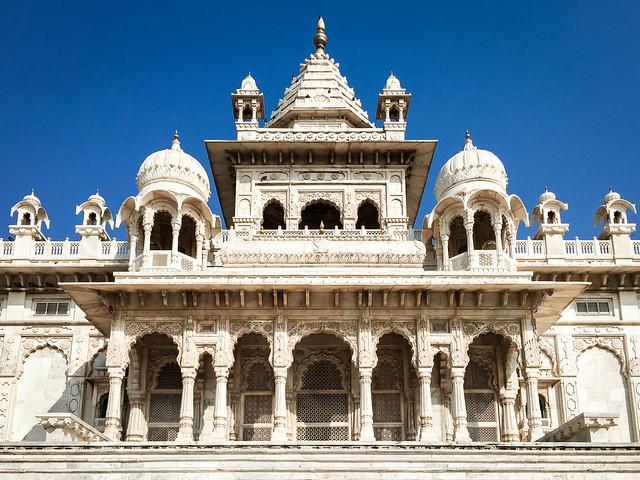 Facade of Jaswant Thada, Jodhpur, India ジョードプル ジャスワント・タダ正面外観