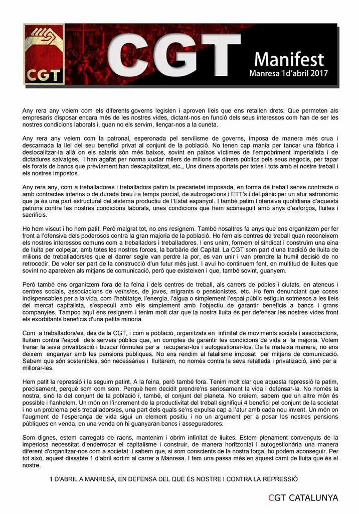 Manifest mani Manresa 1 d'abril 2017
