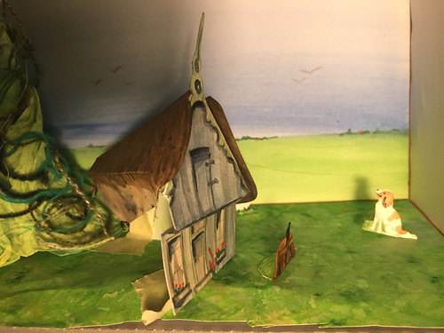 kijkdoos Sjaak en de Bonenstaak shoebox panorama sprookje