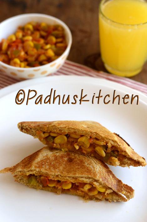 corn-capsicum sandwich