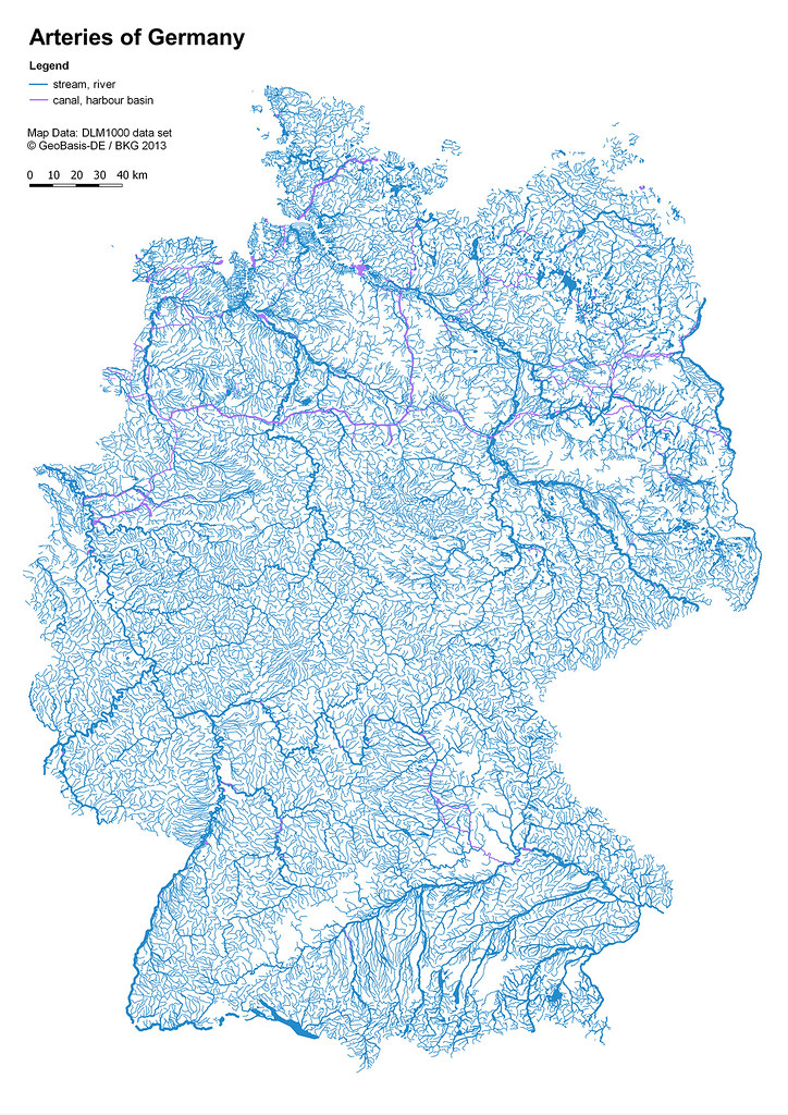 Rivers Of Germany Map.Arteries Of Germany Arteries Of Germany All Rivers And Mo Flickr