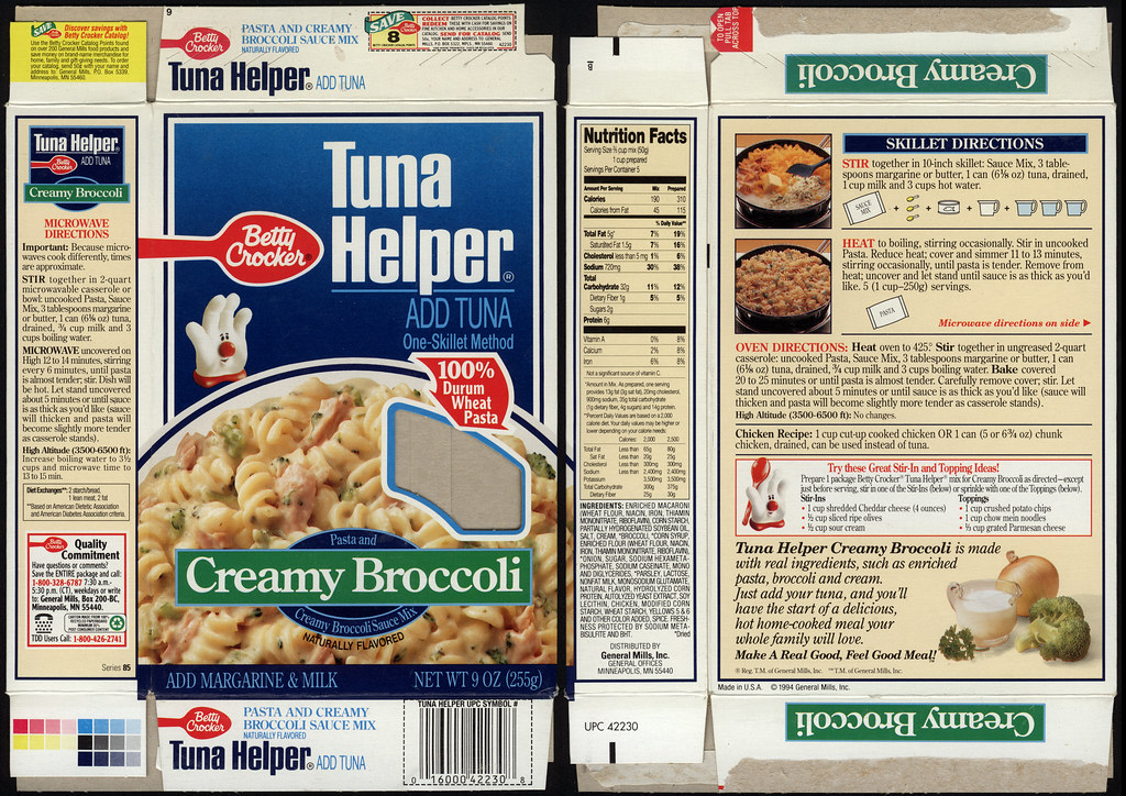General Mills Tuna Helper Creamy Broccoli Product Pa