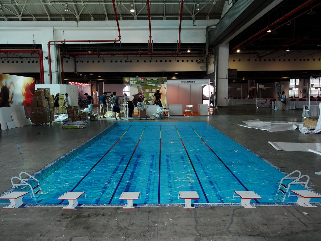 Swiming pool in expo 2013 18 3d floor sticker design we for 3d pool design online free