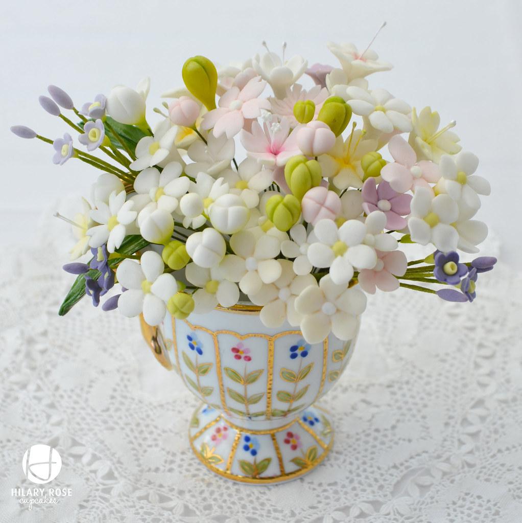 Sugar filler flowers   Little pot of filler flowers waiting …   Flickr