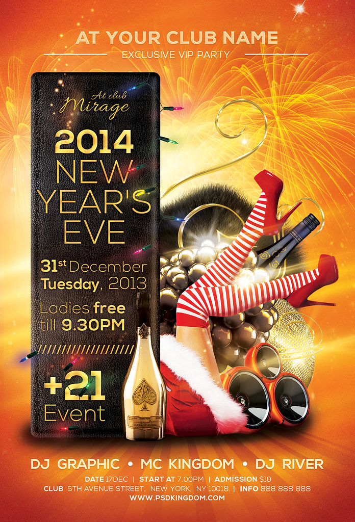 New YearS Eve Party Flyer Template  Psd Can Be Downloaded   Flickr
