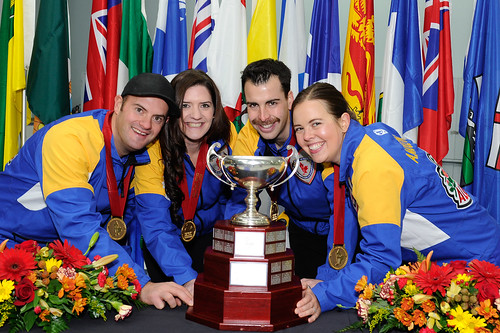 2014 Canadian Mixed Champions - Team Alberta! Anna-Marie Moulding (Lead) Brent Hamilton (Second) Heather Jensen (Third) Darren Moulding (Skip) | by seasonofchampions