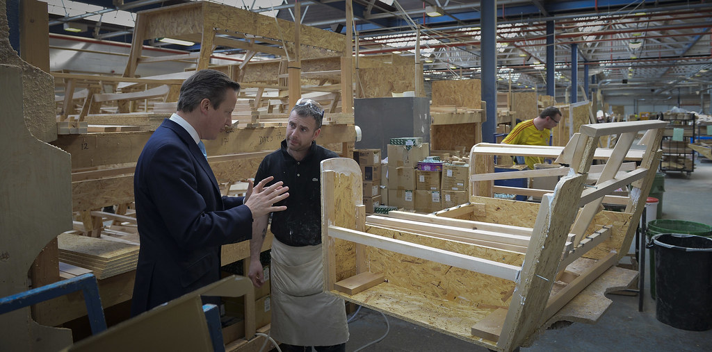 David Cameron Visits Westbridge Furniture Factory The Prim Flickr