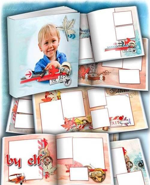 PSD children photobook for Photoshop – Nice boy