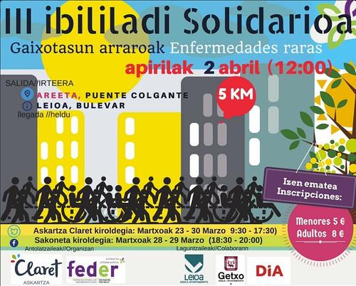 III. Marcha Solidaria Askartza Claret y Feder 2017
