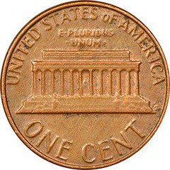 1982-D Small Date Cent Error reverse