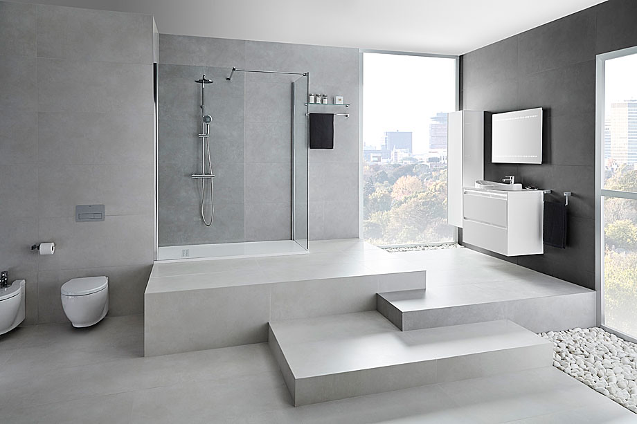 Elegant glass shower Walk-in N by Burgos-based Cerámicas Gala Sundeno_07