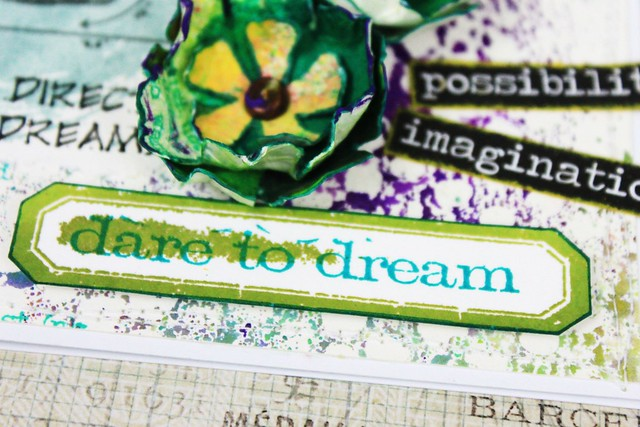 Meihsia Liu Simply Paper Crafts Mixed Media Card Dare to Dream Simon Says Stamp Tim Holtz 5