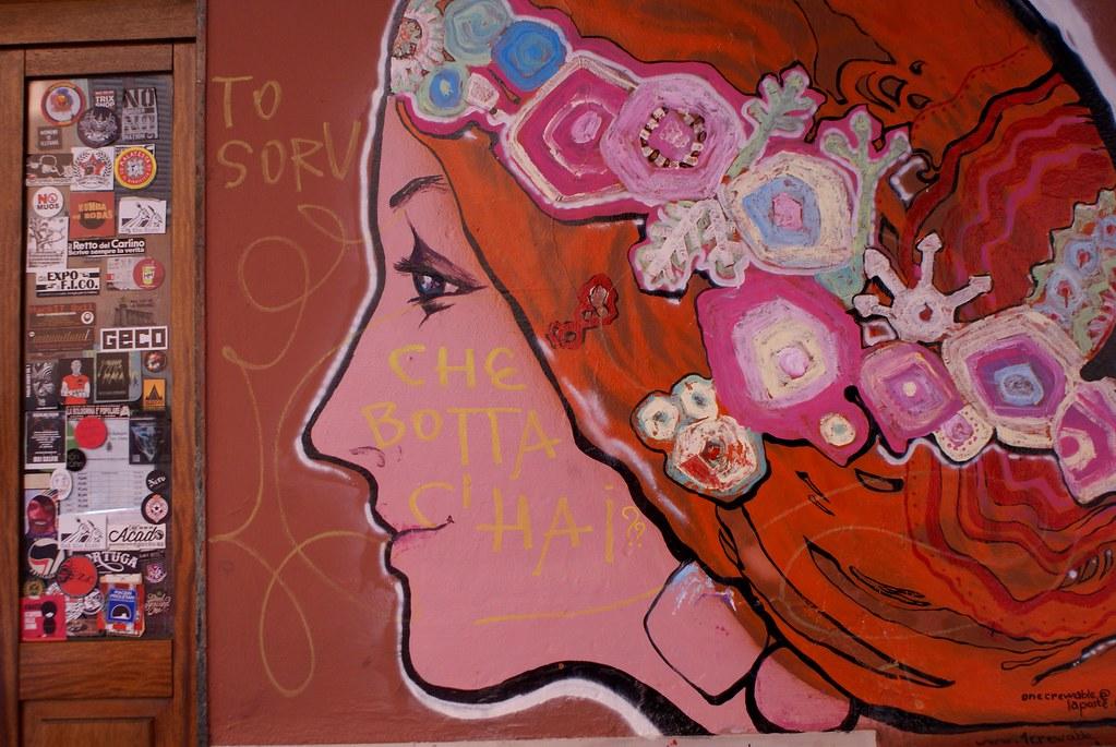 > Street art à Bologne.