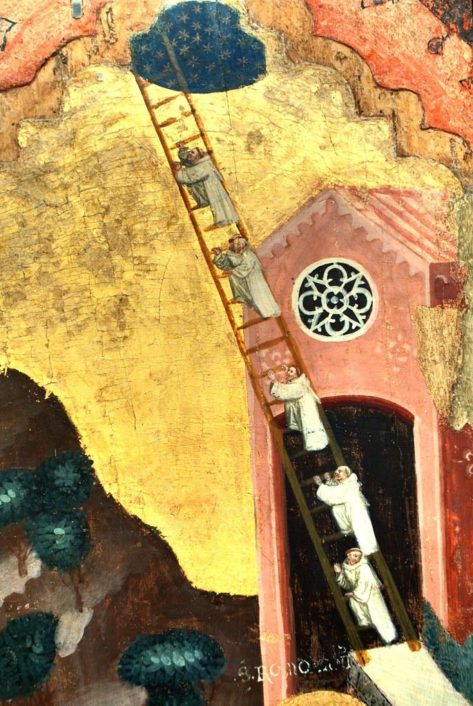 Stairway to heaven - Tableau Pseudo Jacopino à la Pinacoteca de Bologne