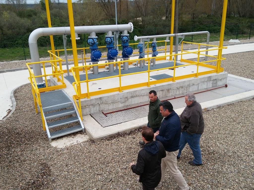 Visita del Alcalde de Coria a la EDAR con motivo del Día Mundial del Agua