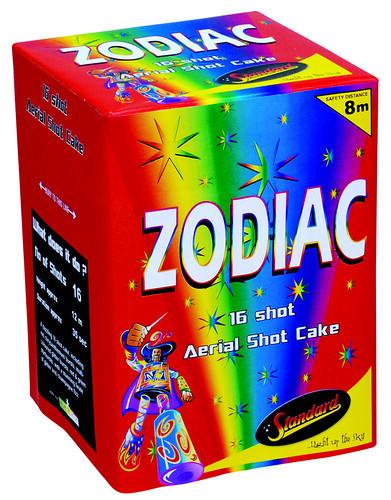 Zodiac 16 Shot Cake by Standard Fireworks