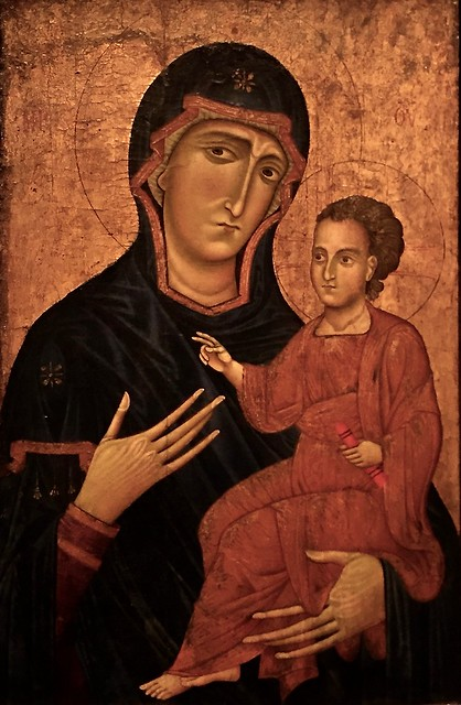 Madonna and child by Berlinghiero Berlinghieri, c. 1230
