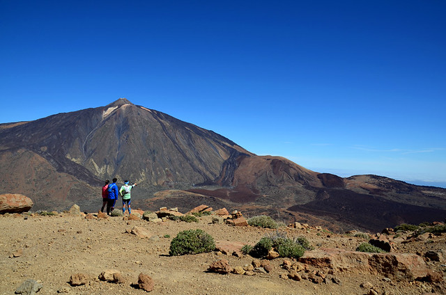 View over Mount Teide from Alto de Guajara