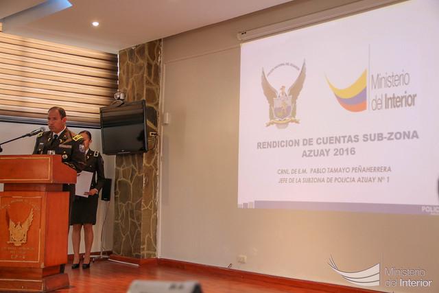 Subzona Azuay realizó rendición de cuentas a la ciudadanía