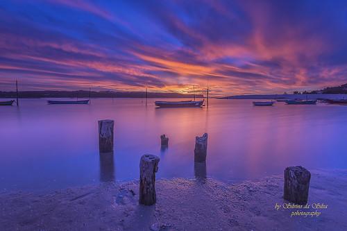 Lagoon of Óbidos sunset