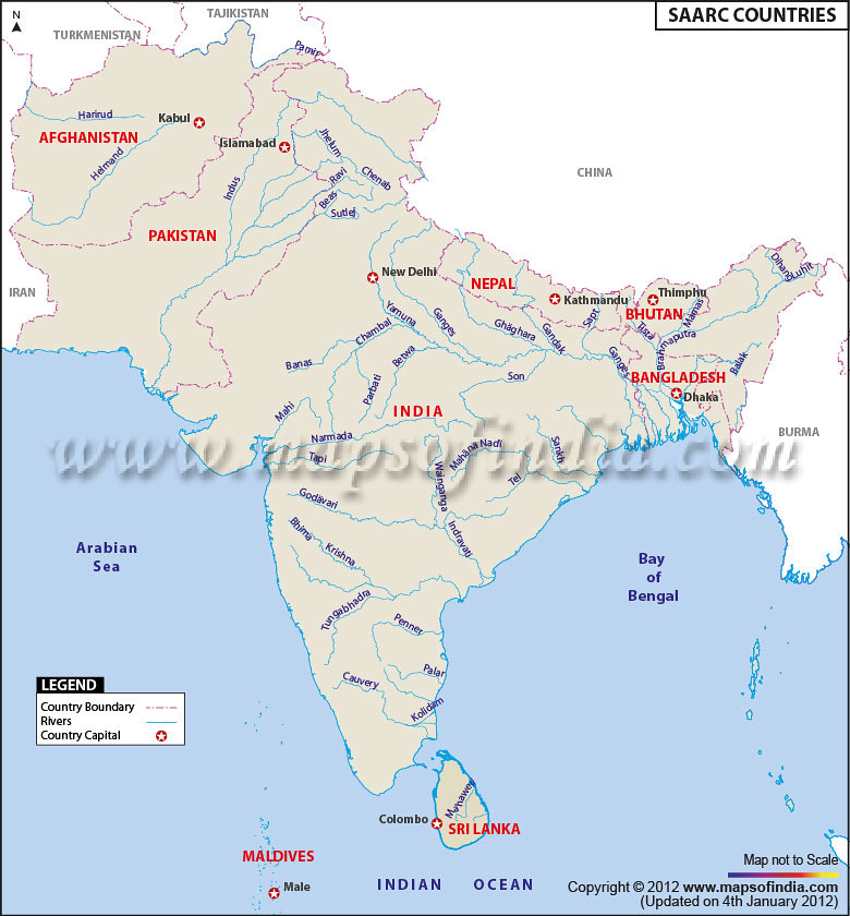 saarc-country-map