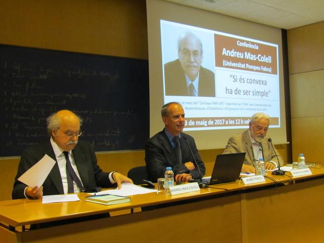 Conferència Andreu Mas-Colell FME 03/05/2017