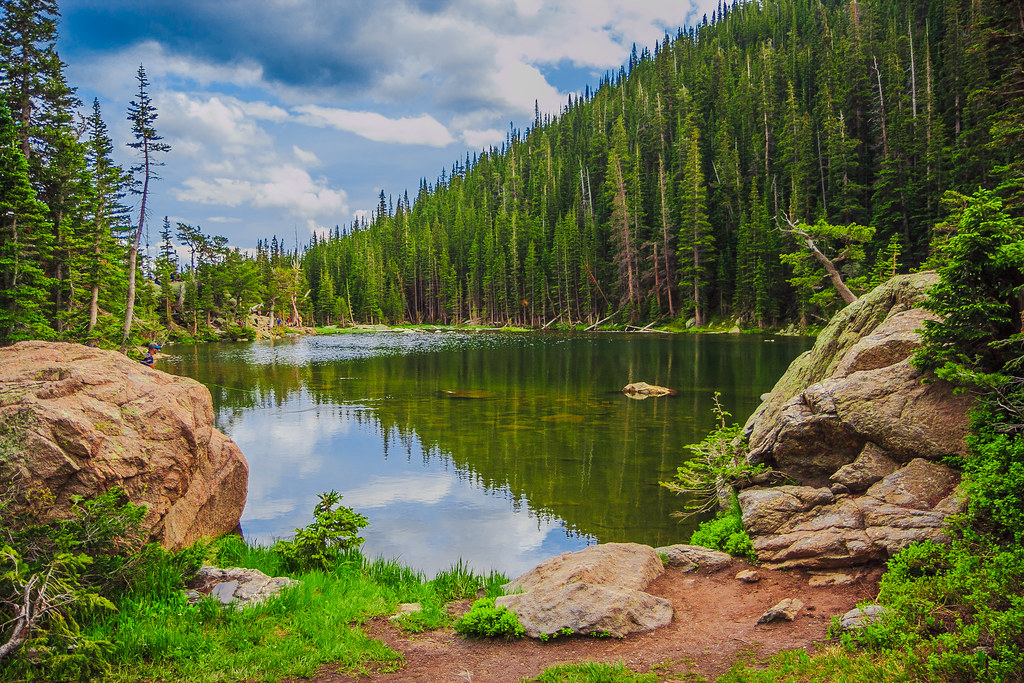 Dream Lake Colorado The 3rd Of The 4 Lake Trails In