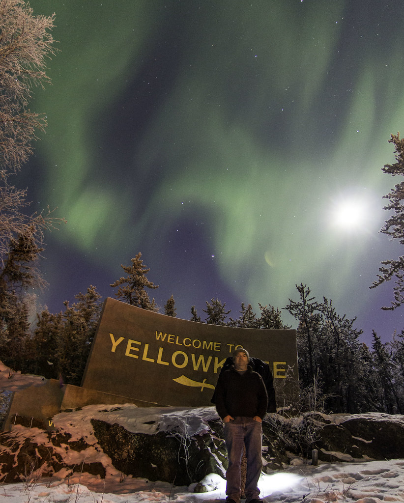 Jim At The Welcome To Yellowknife Sign
