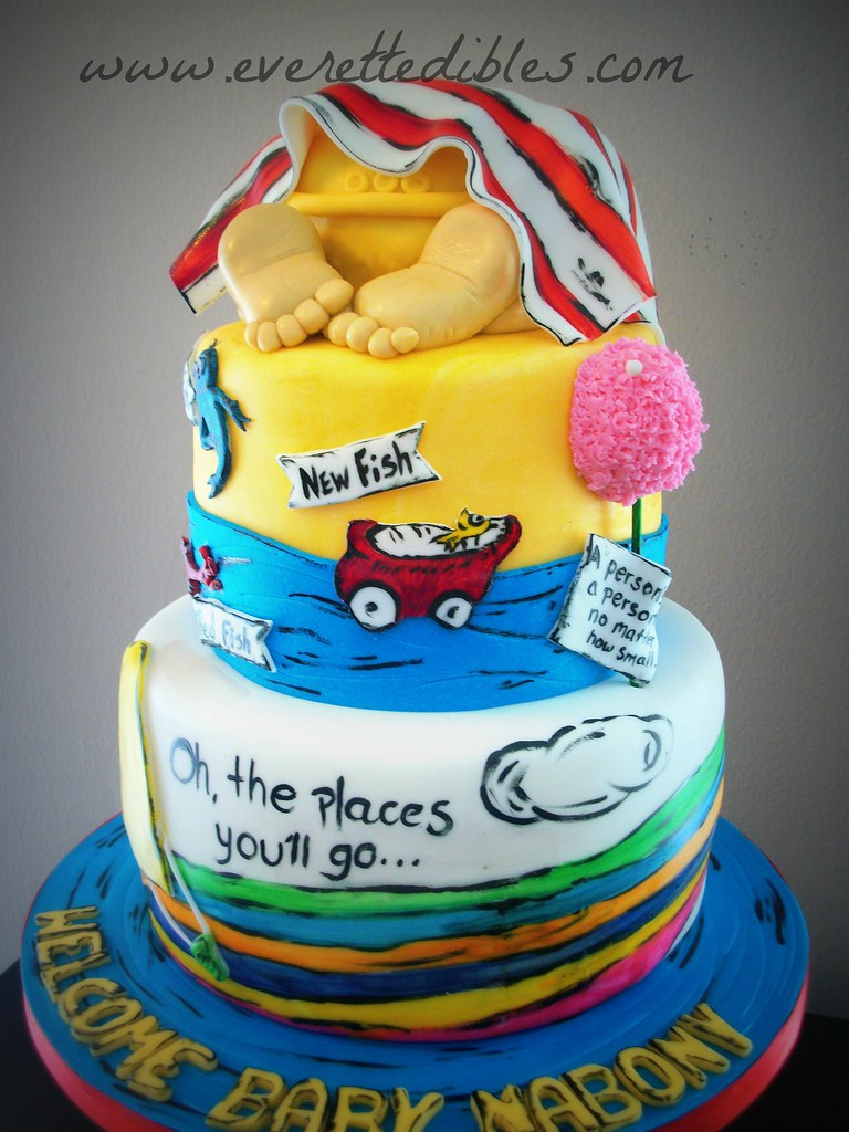 Dr Seuss Babyshower Cake By Everett Edibles Located In War Flickr