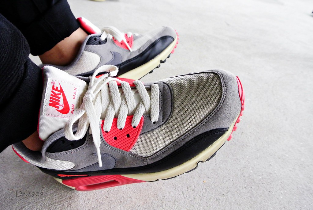 ad46c93cc516d6 ... order air max 90 og infrared vintage on feet by dzxng d81aa 20f05