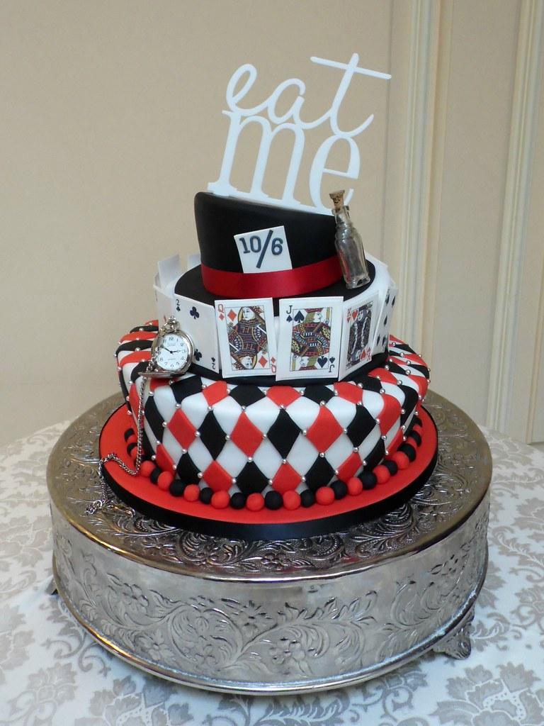Alice in Wonderland Mad Hatter Wonky Wedding Cake | The most… | Flickr