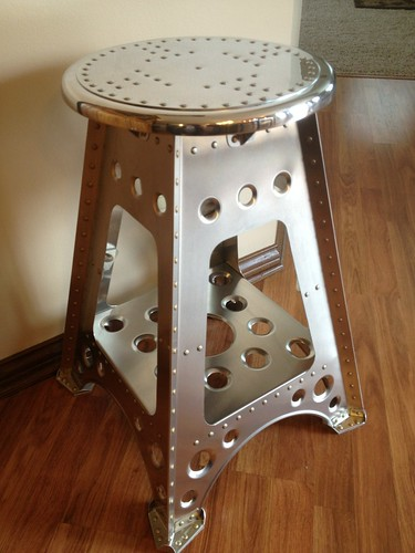 Aviation Stool By Retro Aero All Aircraft Grade Aluminum