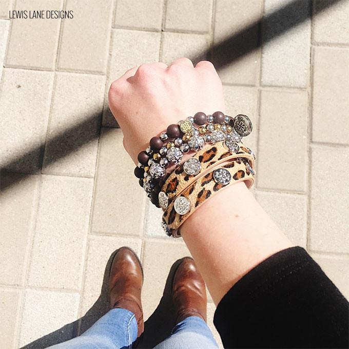 Leopard Rustic Cuff