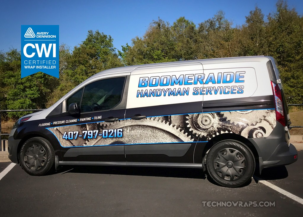 Ford Transit Connect Cargo Van Wrap By TechnoWraps In Orlando