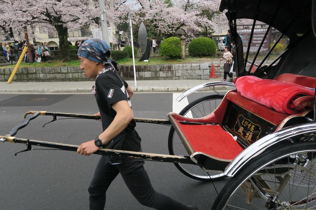 銀閣寺道上的人力車