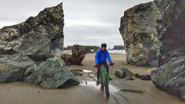 Fat  Biking in Bandon,  Oregon