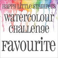 Happy Little Stampers - Watercolour Favourite Badge