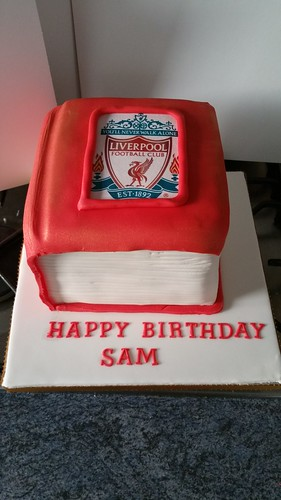 Red Liverpool Book cake | by platypus1974