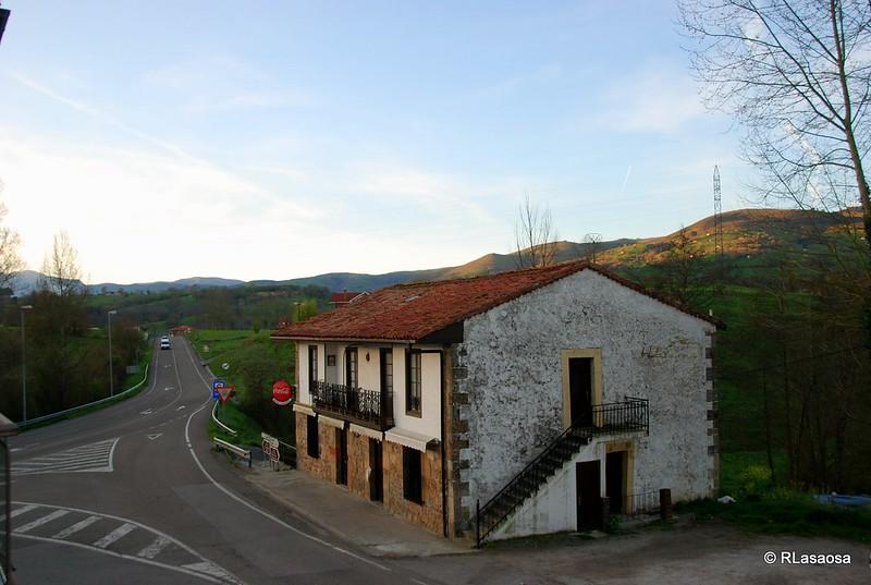 Vistas desde la habitación del hotel La Alfonsina, Santibáñez de Villacarriedo, Cantabria