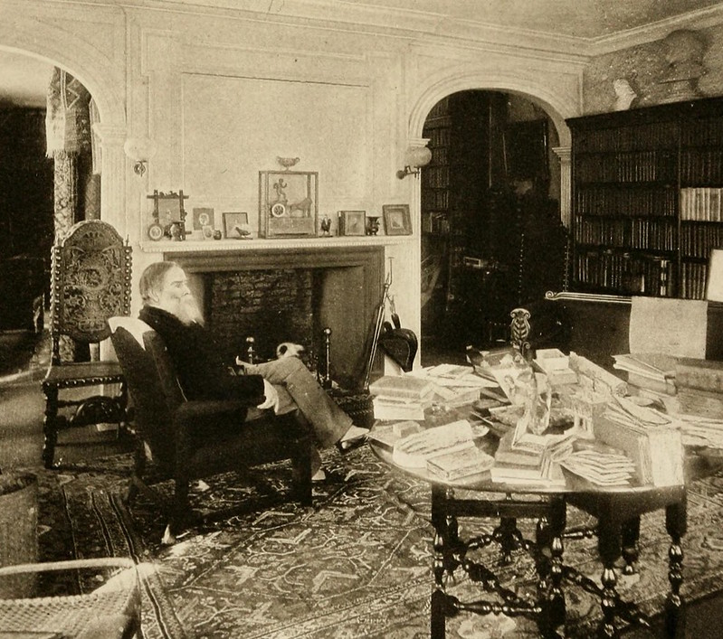 James russell lowell in his study