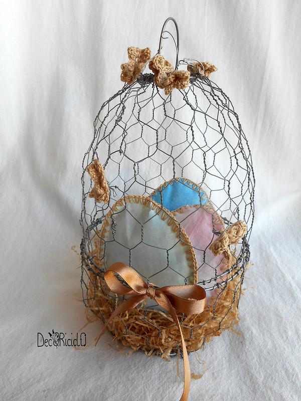 cestino a forma di uovo di rete da conigliera 5