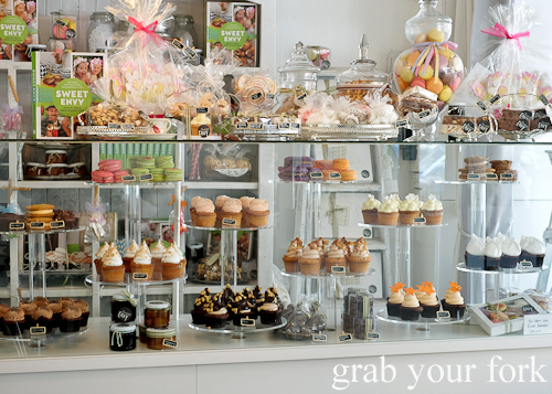 Cupcakes, biscuits, macarons and sweets at Sweet Envy patisserie in Hobart Tasmania