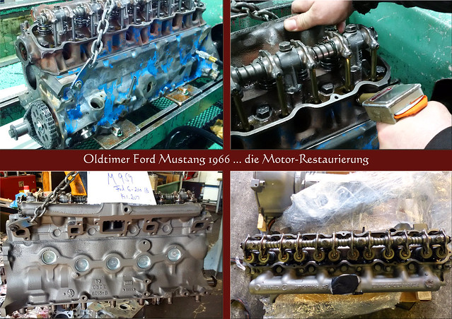 Foto-Dokumentation der Motor-Restaurierung unseres Oldtimers Ford Mustang 1966